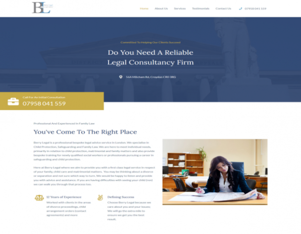 Berry Legal Services home page